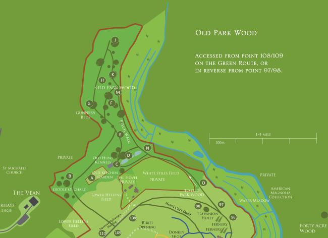 Old Park Wood Map