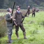 Pheasant shooting at Caerhays